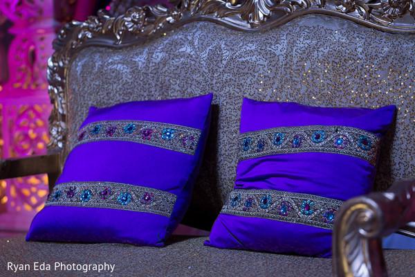 Reception decor in Edison, NJ Indian Wedding by Ryan Eda Photography