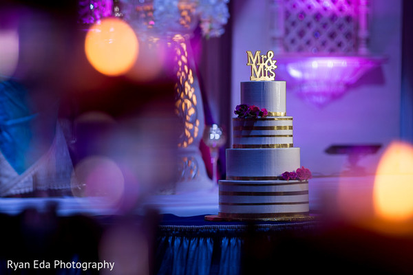 Cake in Edison, NJ Indian Wedding by Ryan Eda Photography