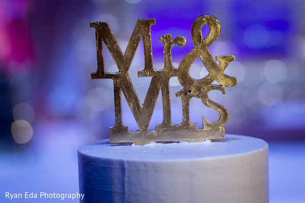 Cake topper in Edison, NJ Indian Wedding by Ryan Eda Photography