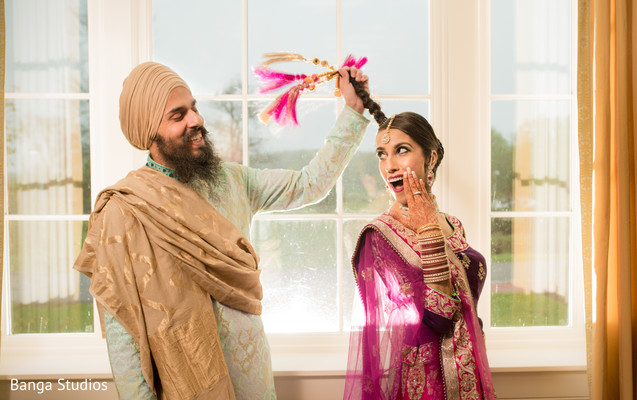 Pre-Wedding Portrait in New Rochelle, NY Sikh Wedding by Banga Studios