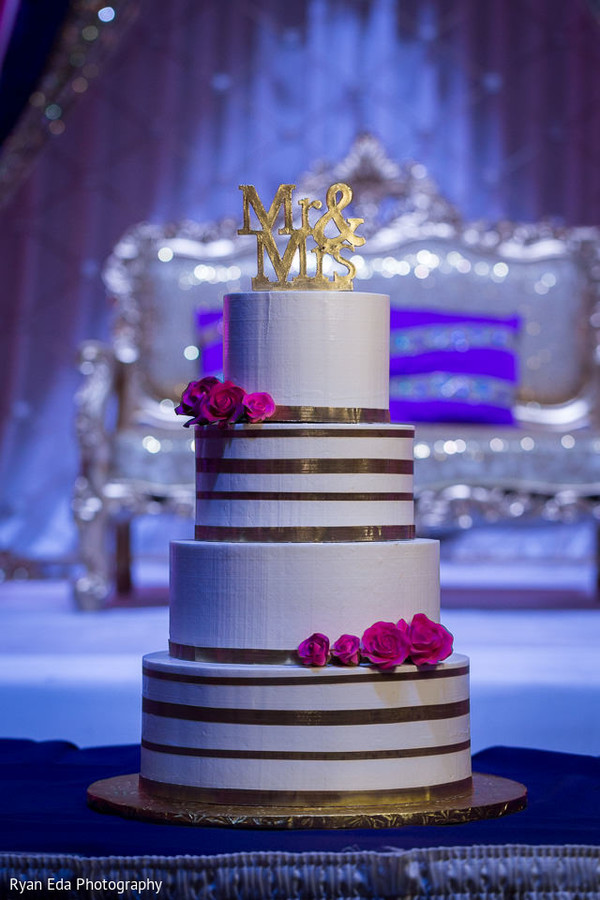 Wedding cake in Edison, NJ Indian Wedding by Ryan Eda Photography