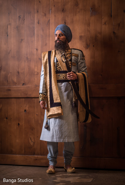 Groom Fashion in New Rochelle, NY Sikh Wedding by Banga Studios