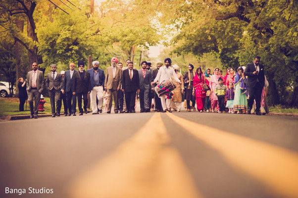 Baraat in New Rochelle, NY Sikh Wedding by Banga Studios