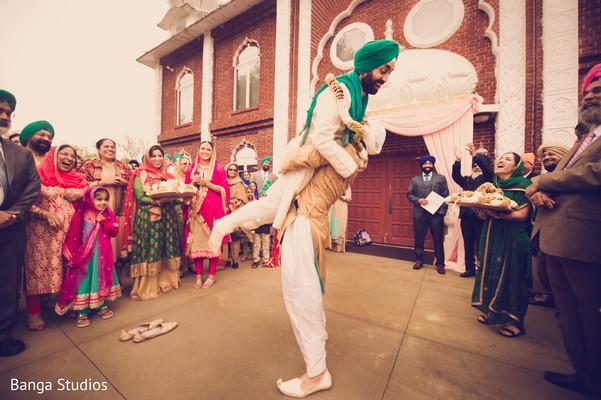 Milni in New Rochelle, NY Sikh Wedding by Banga Studios