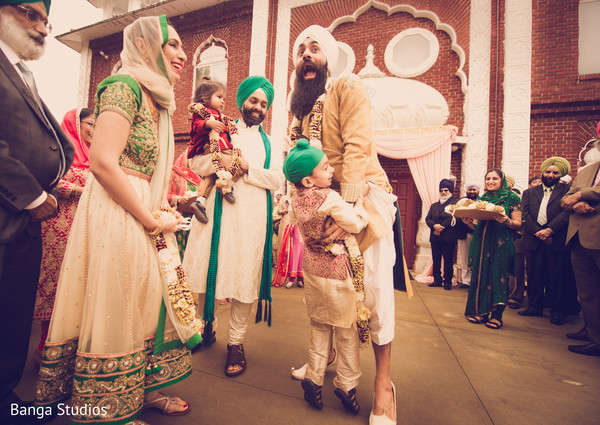 Milni in New Rochelle, NY Sikh Wedding by Banga Studios