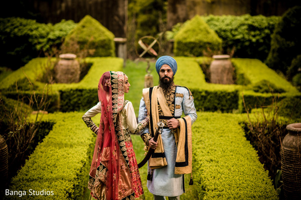 Wedding Portrait in New Rochelle, NY Sikh Wedding by Banga Studios