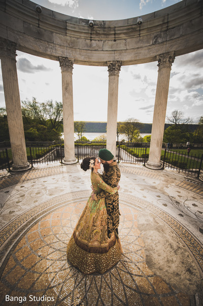 Reception Portrait in New Rochelle, NY Sikh Wedding by Banga Studios