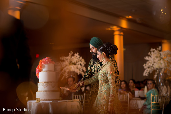 wedding reception,reception,south asian wedding reception,indian wedding reception,sikh wedding,cake cutting