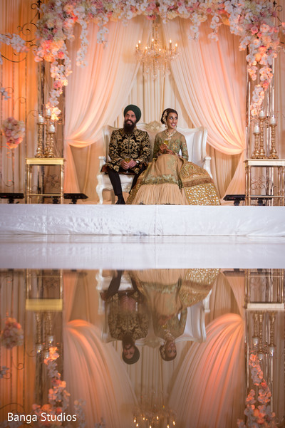 wedding reception,reception,south asian wedding reception,indian wedding reception,sikh wedding,floral and decor,reception decor,sweetheart stage