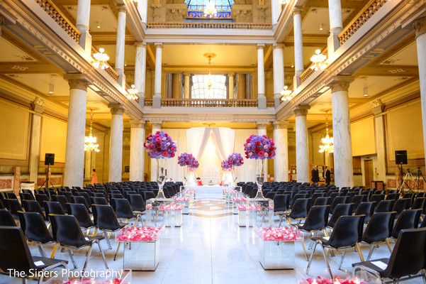 Ceremony decor in Indianapolis, IN Indian Wedding by The Siners Photography