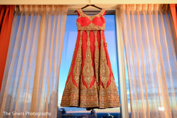 Lengha in Indianapolis, IN Indian Wedding by The Siners Photography