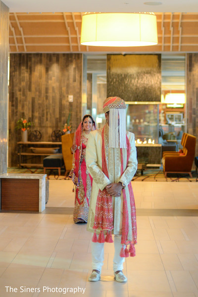 First look in Indianapolis, IN Indian Wedding by The Siners Photography