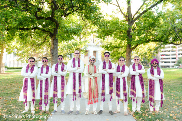 Bridal party in Indianapolis, IN Indian Wedding by The Siners Photography