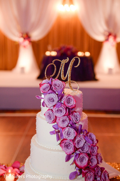 Wedding cake in Indianapolis, IN Indian Wedding by The Siners Photography
