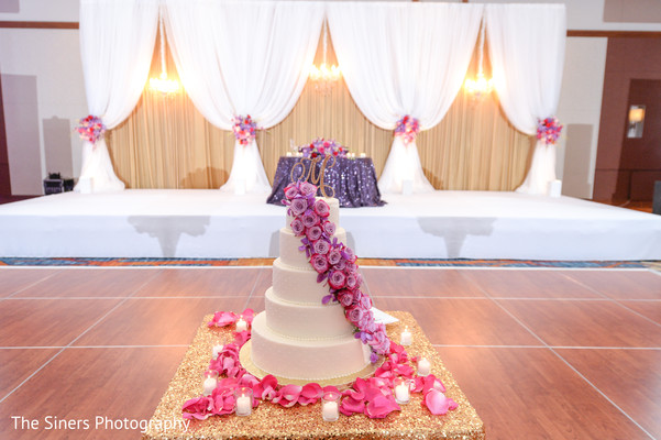 Cake in Indianapolis, IN Indian Wedding by The Siners Photography