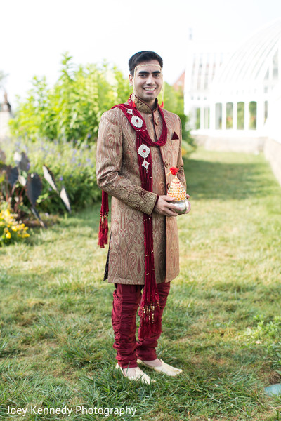 Groom in Pittsburgh, PA Hindu-Jewish Fusion Wedding by Joey Kennedy Photography