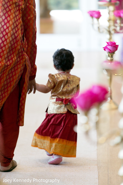 Flower Girl in Pittsburgh, PA Hindu-Jewish Fusion Wedding by Joey Kennedy Photography