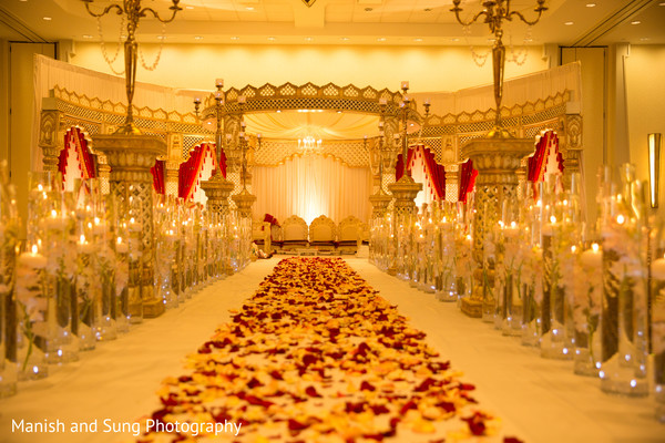 Mandap in Hartford, CT Indian Wedding by Manish and Sung Photography