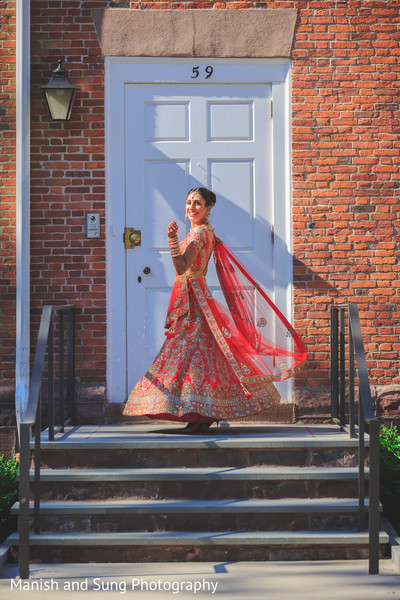 Indian bride in Hartford, CT Indian Wedding by Manish and Sung Photography
