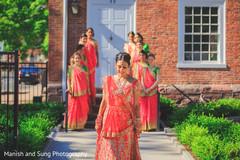 indian bride,bridal party,bridesmaids