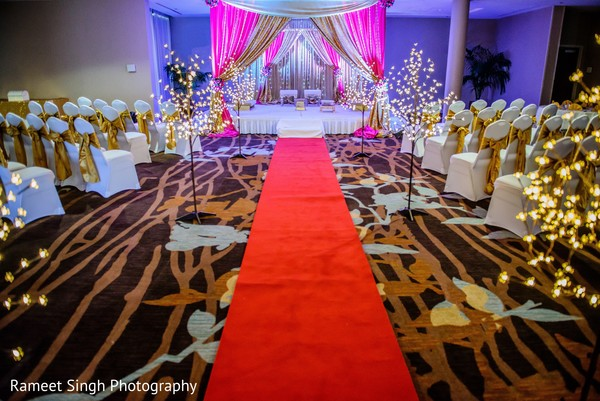 Ceremony decor in Chapel Hill, NC Indian Wedding by Rameet Singh Photography