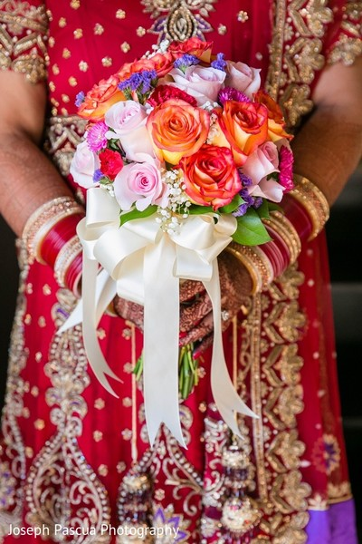 Bouquet in San Mateo, CA Indian Wedding by Joseph Pascua Photography