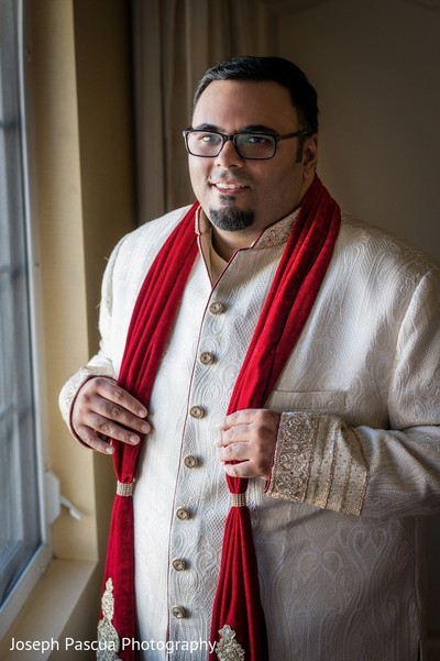Groom Getting Ready in San Mateo, CA Indian Wedding by Joseph Pascua Photography
