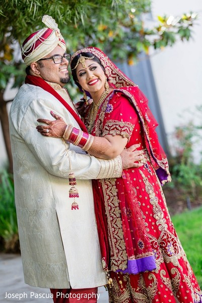 First Look in San Mateo, CA Indian Wedding by Joseph Pascua Photography