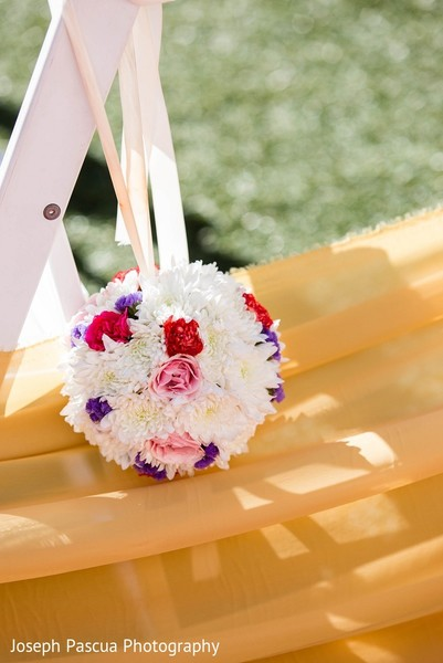 Ceremony Decor in San Mateo, CA Indian Wedding by Joseph Pascua Photography