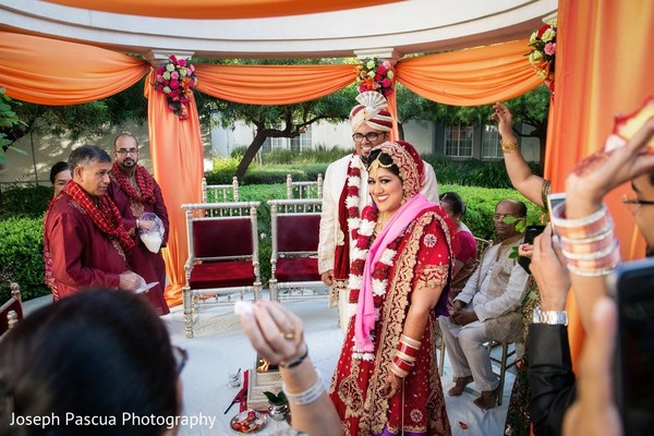 Ceremony in San Mateo, CA Indian Wedding by Joseph Pascua Photography