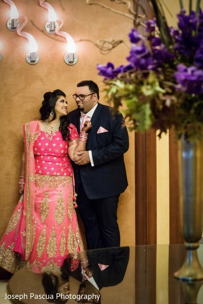 Reception Portrait in San Mateo, CA Indian Wedding by Joseph Pascua Photography