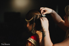 getting ready,indian bride getting ready,updo