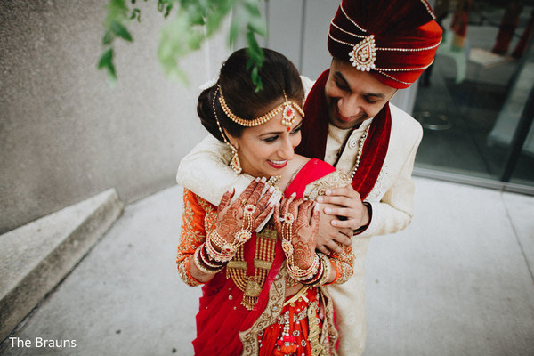First Look in Columbus, OH  Indian Wedding by The Brauns