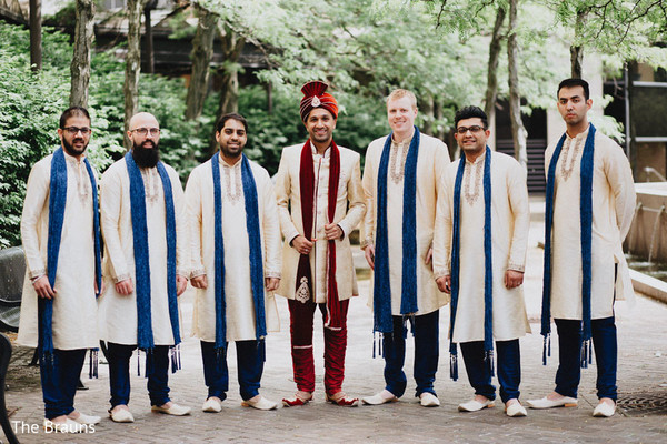 Groomsmen in Columbus, OH  Indian Wedding by The Brauns