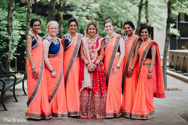Bridal Party in Columbus, OH  Indian Wedding by The Brauns