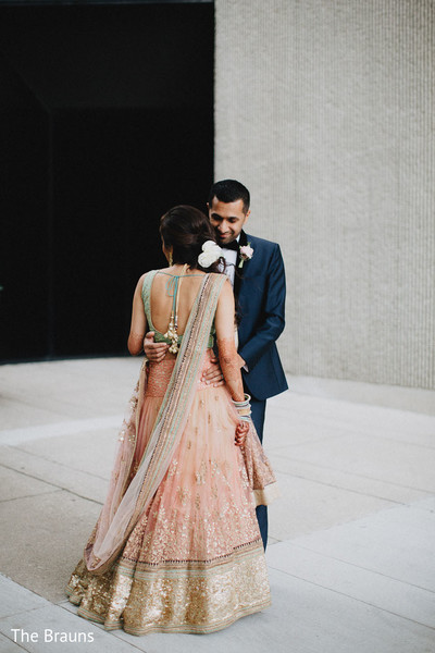 Reception Portrait in Columbus, OH  Indian Wedding by The Brauns