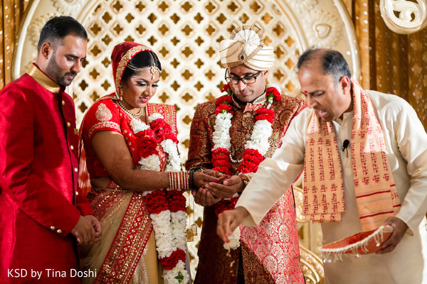 Ceremony in Cleveland, OH Indian Wedding by KSD Weddings