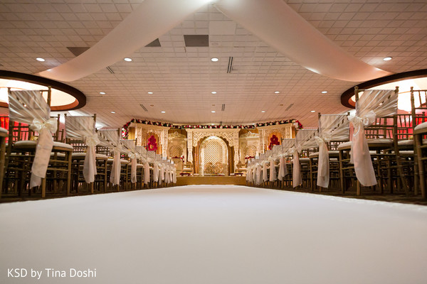 Ceremony decor in Cleveland, OH Indian Wedding by KSD Weddings