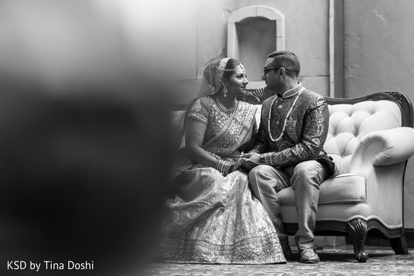 First look portraits, first look in Cleveland, OH Indian Wedding by KSD Weddings