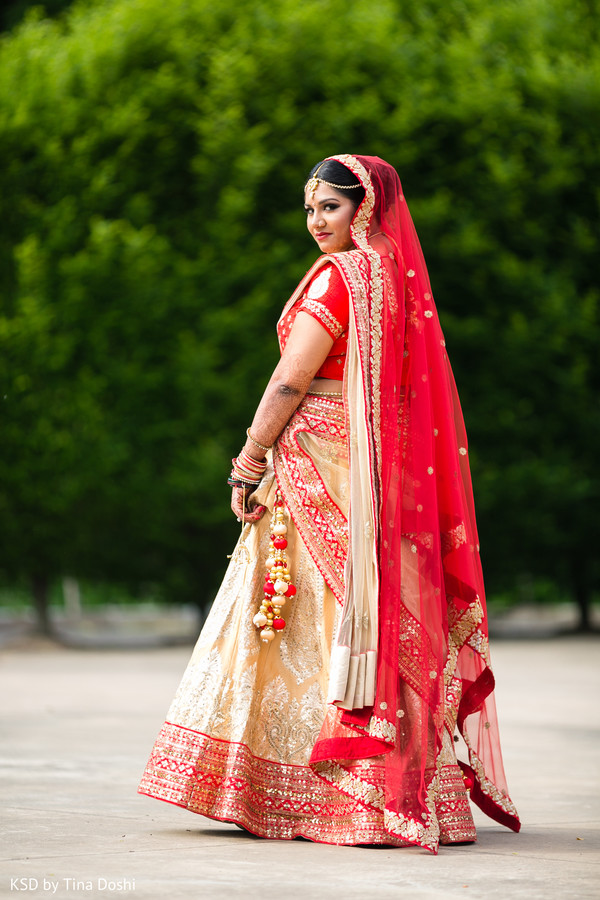 Indian bride in Cleveland, OH Indian Wedding by KSD Weddings