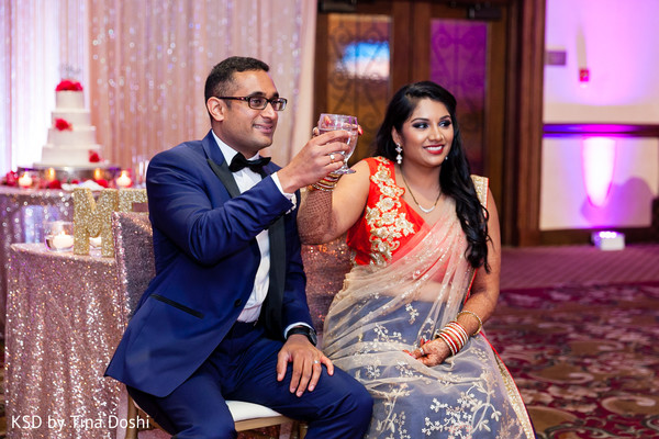 Reception in Cleveland, OH Indian Wedding by KSD Weddings