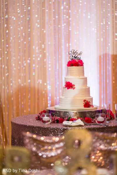 Cake in Cleveland, OH Indian Wedding by KSD Weddings