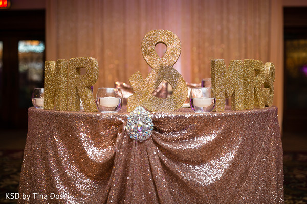 Reception decor in Cleveland, OH Indian Wedding by KSD Weddings