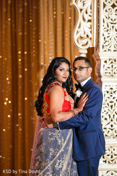 Indian reception portraits in Cleveland, OH Indian Wedding by KSD Weddings