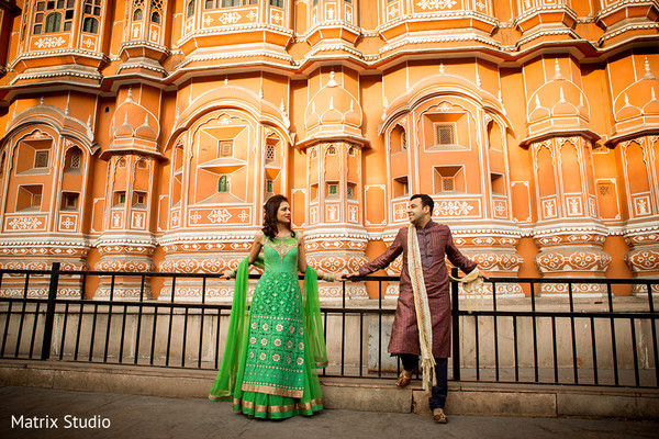 Engagement Portrait in Jaipur, India Indian Engagement by Matrix Studio