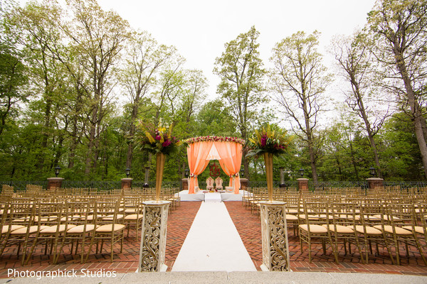 ceremony decor,floral and decor,indian wedding decorations,ceremony venue,outdoor mandap