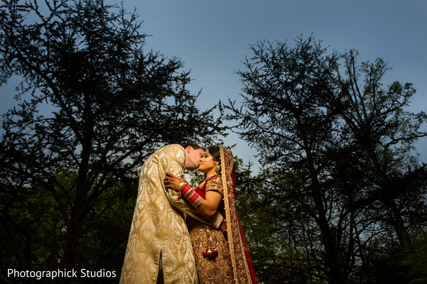 First look in Chantilly, VA Indian Fusion Wedding by Photographick Studios