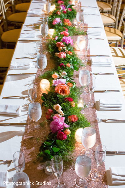 Reception decor in Chantilly, VA Indian Fusion Wedding by Photographick Studios
