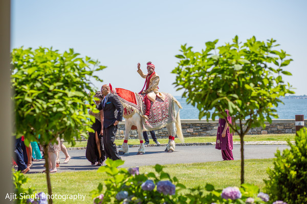Baraat in New Rochelle, NY Indian Fusion Wedding by Ajit Singh Photography