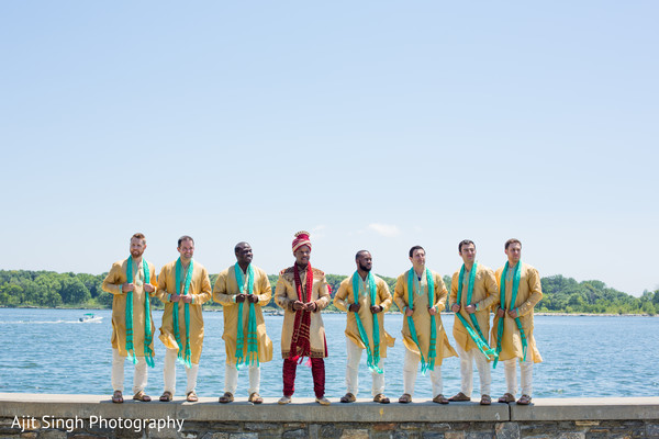 Portrait in New Rochelle, NY Indian Fusion Wedding by Ajit Singh Photography